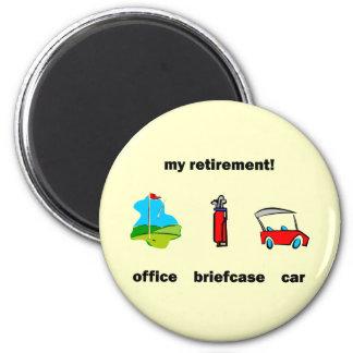 Funny golf retirement fridge magnets