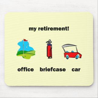 Funny golf retirement mouse pad