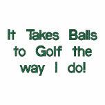 Funny Golf Shirt, Embroidered Polos