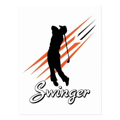 Funny Golf Swinger Post Cards