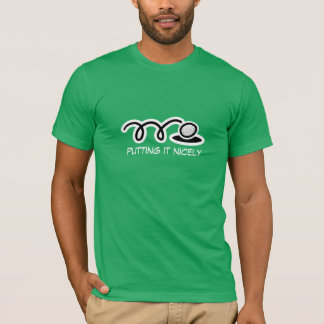 Funny golf t-shirt with humorous quote for golfers