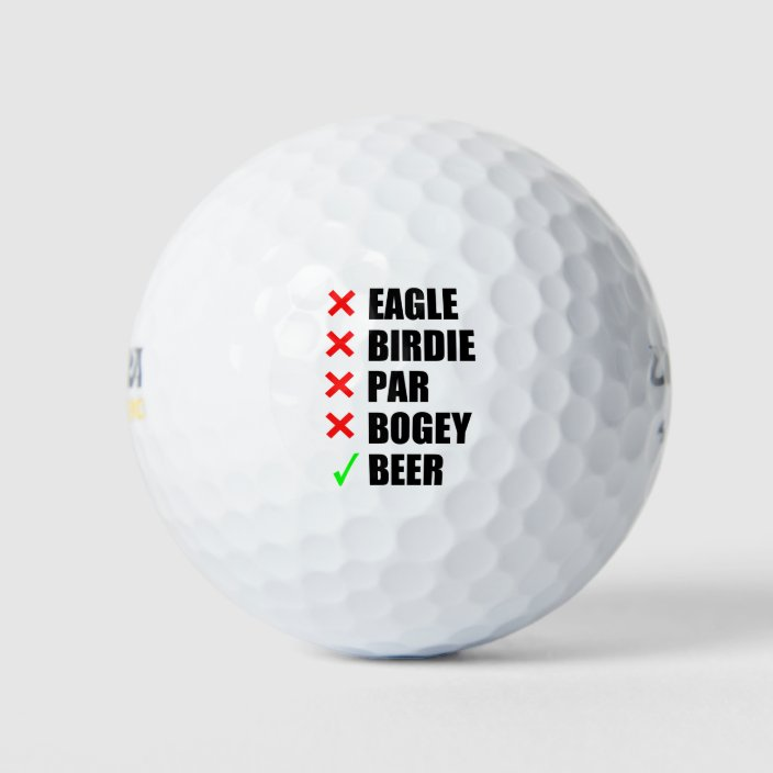 Funny Golf Terms Golf Balls Zazzle Com