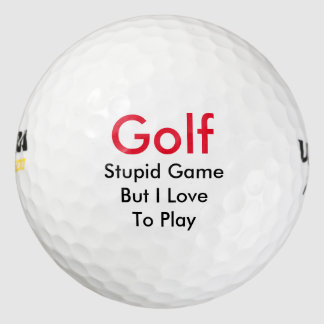 Funny Golf Theme Gift Pack Of Golf Balls