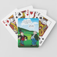 Funny Golf Themed Poker Playing Cards Deck