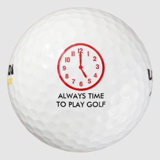 Funny Golf Time Golf Balls