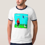 Funny Golfer & Goose Tee Shirt
