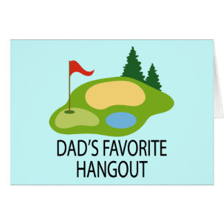 Funny Golfing Golf Course Dad's Hangout Gift Card