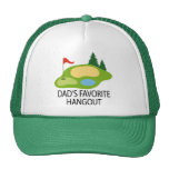 Funny Golfing Golf Course Dad's Hangout Gift Hats