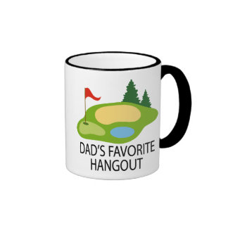 Funny Golfing Golf Course Dad's Hangout Gift Ringer Coffee Mug