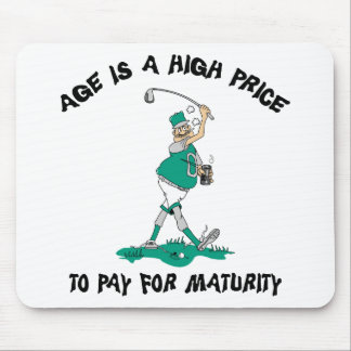 Funny Golfing Grandpa Mouse Pad