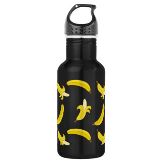 Funny Gone Bananas illustrated pattern Stainless Steel Water Bottle