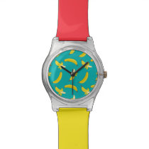 Funny Gone Bananas illustrated pattern Wrist Watch