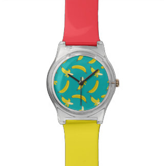 Funny Gone Bananas illustrated pattern Wristwatch