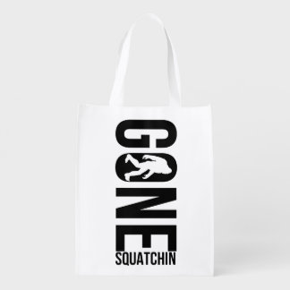 Funny Gone Squatchin Grocery Bags