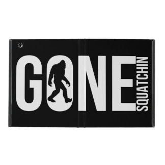 Funny Gone Squatchin iPad Case