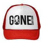 Funny Gone Squatchin Trucker Hats