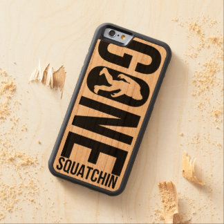 Funny Gone Squatchin Carved® Cherry iPhone 6 Bumper Case