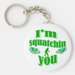 Funny gone squatching basic round button keychain