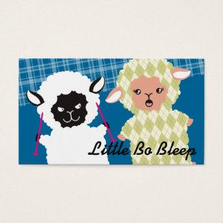 Funny good bad sheep argyle knitting needles business card