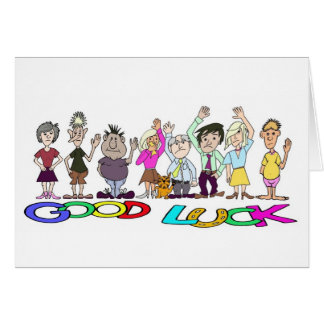 Funny Good Luck Card With Text