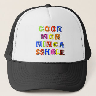 funny good morning sshole prank april gift trucker hat