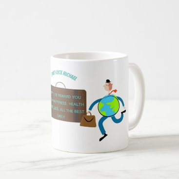 Professional Business Funny Goodbye Gift Personalized Travelling Man Coffee Mug