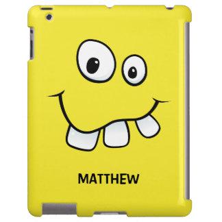 Funny, goofy cartoon face yellow personalized