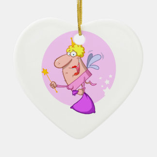 funny goofy fairy godmother cartoon character ceramic ornament