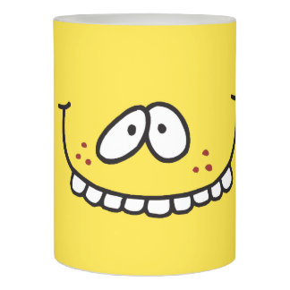 Funny Goofy Teethy Grin Yellow Smiley Face Flameless Candle