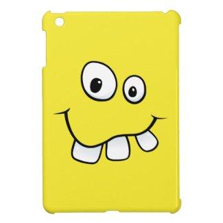 Funny goofy yellow cartoon smiley face funny iPad mini covers