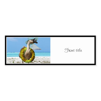 Funny Goose at the Beach Double-Sided Mini Business Cards (Pack Of 20)