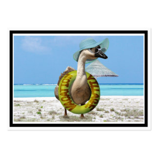 Funny Goose at the Beach Large Business Cards (Pack Of 100)