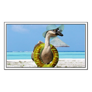 Funny Goose at the Beach Double-Sided Standard Business Cards (Pack Of 100)