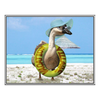 Funny Goose at the Beach Personalized Flyer