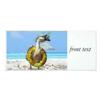 Funny Goose at the Beach 4x9.25 Paper Invitation Card