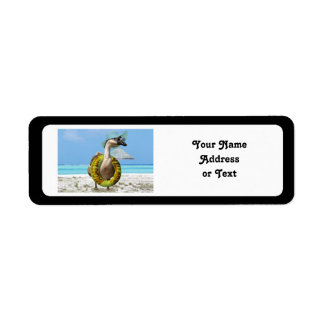 Funny Goose at the Beach Return Address Label