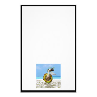 Funny Goose at the Beach Stationery