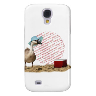 Funny Goose with Summer Hat Photo Frame Samsung Galaxy S4 Cases