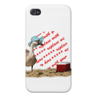 Funny Goose with Summer Hat Photo Frame iPhone 4/4S Cases