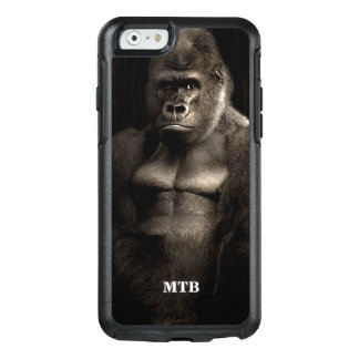 Funny Gorilla Ape Photo Personalized with Monogram OtterBox iPhone 6/6s Case