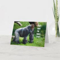 Funny Gorilla Birthday Card