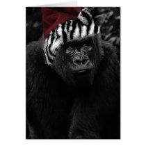 Funny Gorilla Christmas Card