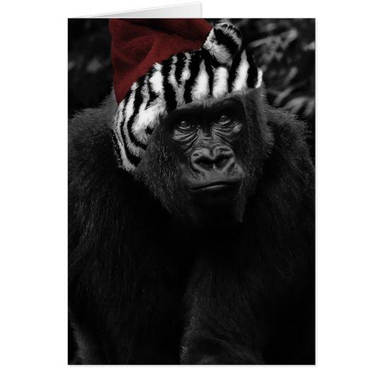 Funny Gorilla Christmas Card Zazzle