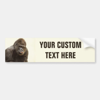 Funny Gorilla custom bumpersticker Bumper Sticker