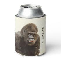 Funny Gorilla custom can cooler