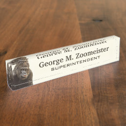 Funny Gorilla custom desk name plate
