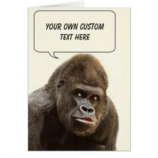 Funny Gorilla custom greeting card