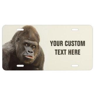 Funny Gorilla custom license plate