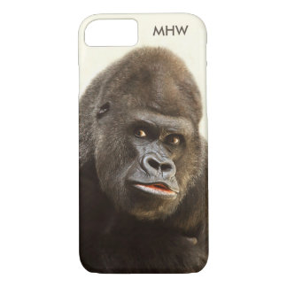 Funny Gorilla custom monogram cases