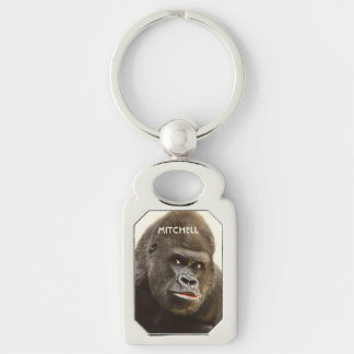 Funny Gorilla custom monogram key chain
